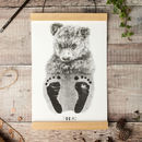 Personalised Baby Bear Footprint Kit
