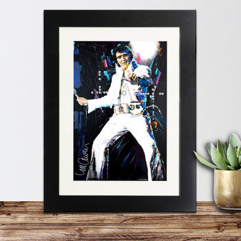 Official Elvis Presley Framed Print By Sidney Maurer