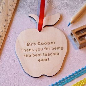 Thank You Teacher Wooden Apple - black friday sale