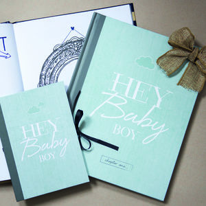 Baby Journal And Mini Album Gift Set For Boys