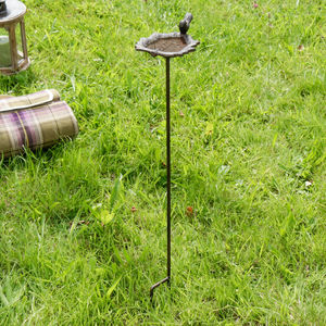 Cast Iron Leaf Bird Bath - birds & wildlife