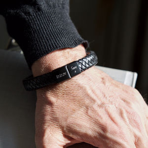 Personalised Men's Date Bracelet - gifts for fathers