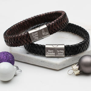 Personalised Men's Christmas Bracelet - bracelets
