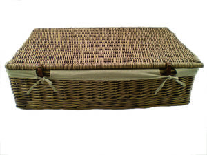 Antique Brown Underbed Basket Set Two A6 - office & study