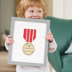 Hand Painted And Embroidered Gold Medal Artwork - baby's room