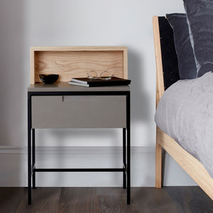 Howie Industrial Bedside Table - furniture