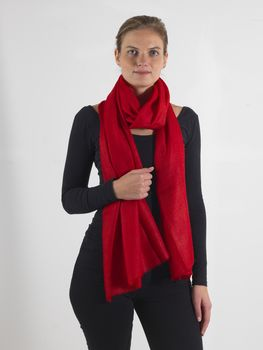 Red Oversized Cashmere Scarf