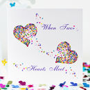 Butterfly Love Card, When Two Hearts Meet