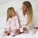 Personalised Girl's Pink Satin Pyjama's