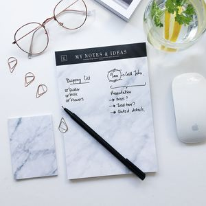 My Notes And Ideas | Marble Notepad - writing
