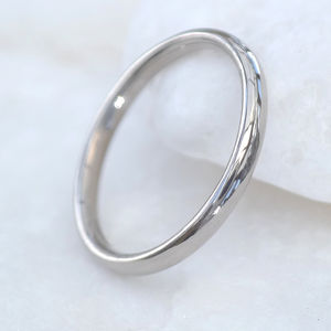 2mm Court Platinum Wedding Ring - wedding rings