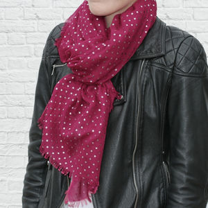 Limited Edition Cranberry Sparkle Star Scarf - scarves