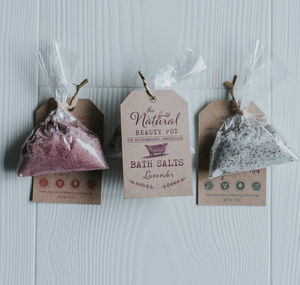 Natural Bath Salt Hen Wedding Favours 20, 50
