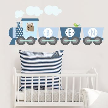 Train Name Fabric Wall Sticker