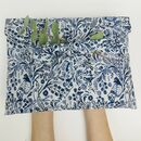 Cotton Gift Bag,Blue Bird Fabric,Zero Waste,Reusable