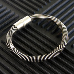 Mens Textured Contemporary Bracelet - bracelets