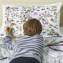 World Map Bedding Set Colour In And Learn
