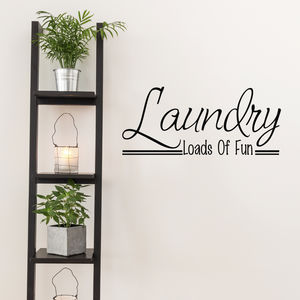 Laundry Room Wall Art Quote - wall stickers