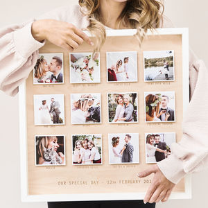 Personalised Wedding Wooden Framed Photo Print - personalised