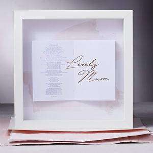 Personalised Lyrics Framed Songbook - top 100 gifts