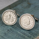 18th Birthday 2002 Five Pence 5p Coin Cufflinks