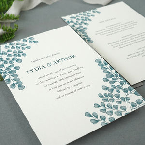 Fern Wedding Invitation - invitations