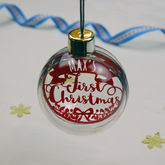 Papercut First Christmas Bauble - christmas decorations