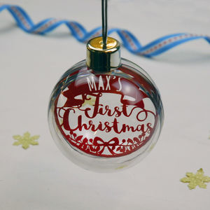 Papercut First Christmas Bauble - baby's first christmas