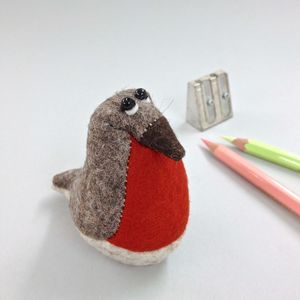 Handmade Collectable Paperweight Robin