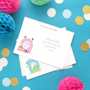 Personalised Alphabet Children's Thank You Cards - personalised