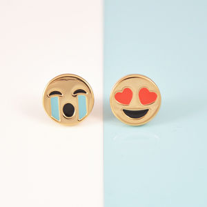 Emoji Ear Stud Earrings - earrings