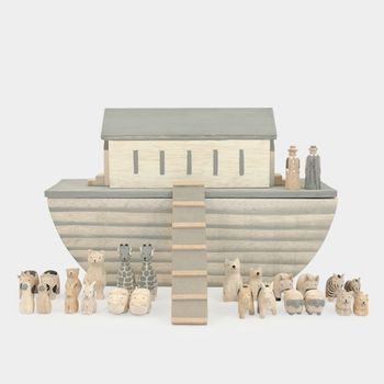 Large Natural Noah's Ark Set