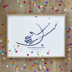 'The Belly' Personalised To Scale Baby Pregnancy Print - drawings & illustrations