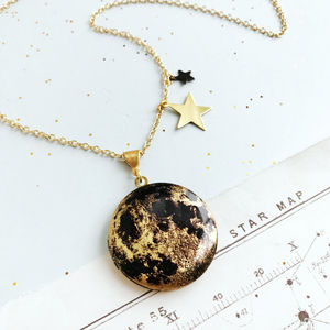 Personalised Moon Locket Necklace - necklaces & pendants