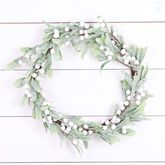 Frosted Mistletoe Berry Christmas Wreath - christmas decorations