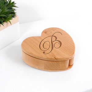 Personalised Wooden Heart Keepsake Box
