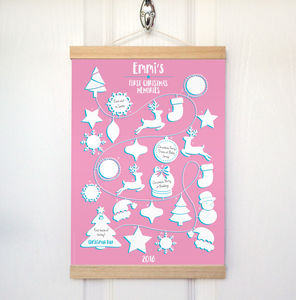 Personalised First Christmas Memories Advent Calendar - winter sale