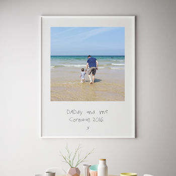 Your Childs Handwritten Message Fathers Day Print