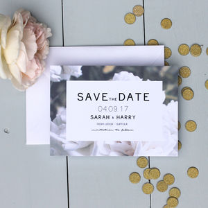 Floral Rose Save The Date Card - save the date cards