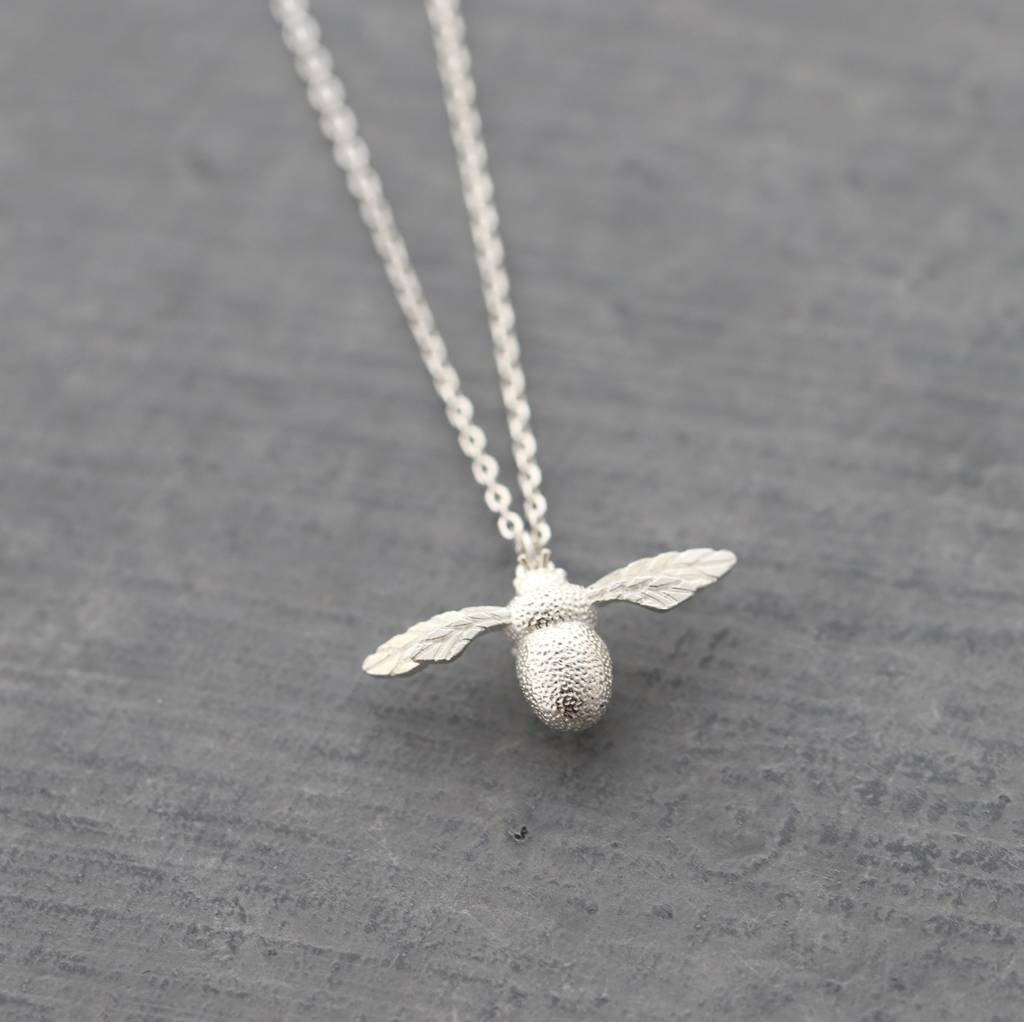8c7aaa8ad sterling silver bumble bee necklace by attic | notonthehighstreet.com