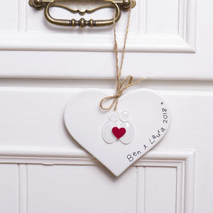 "Personalised ""Love Birds"" Hanging Decoration"