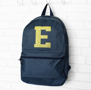 Glittery Initial Back To School Bag - backpacks