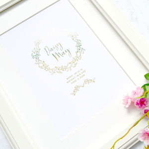 New Baby Personalised Foiled Print