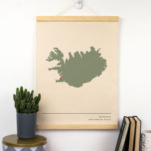 Cotton Anniversary Map Print - personalised