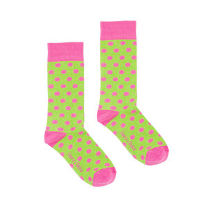 Children's Green Socks With Pink Spots