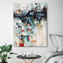 Large Original Art Blue Abstract Painting