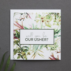 'Will You Be Our Usher?' Card - best man & usher cards