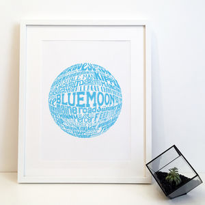 Manchester City Football Club Typography Print