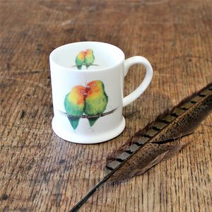 Love Birds Bone China Mini Mug