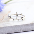 Dahlia Sterling Silver Dotty Boho Ring